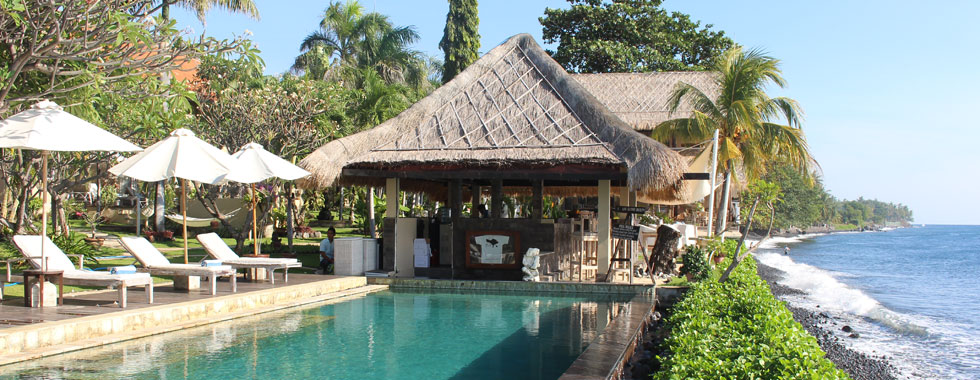 bali dive resort pool view